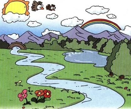 小溪简笔画-animals怎么读图片
